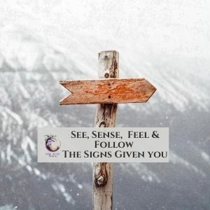 Seeing & Following the Signs from the Universe